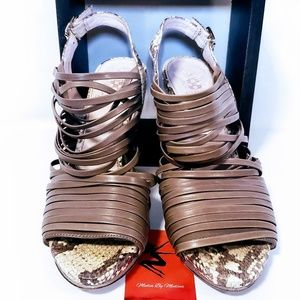Vince Camuto Shoes - Vince Camuto Snake & Leather Slingback Heels 7M💋
